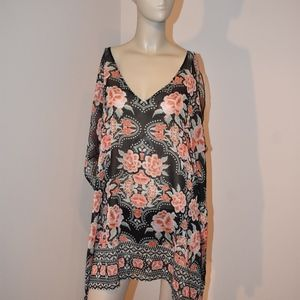 New Becca Floral Swimsuit Cover-Up OX